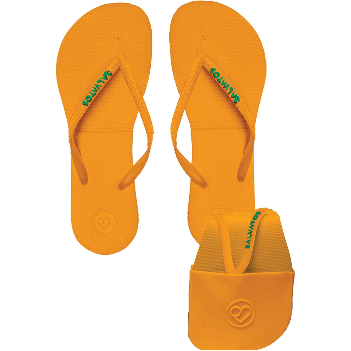 Salvatos Foldable Flip Flops - Papaya