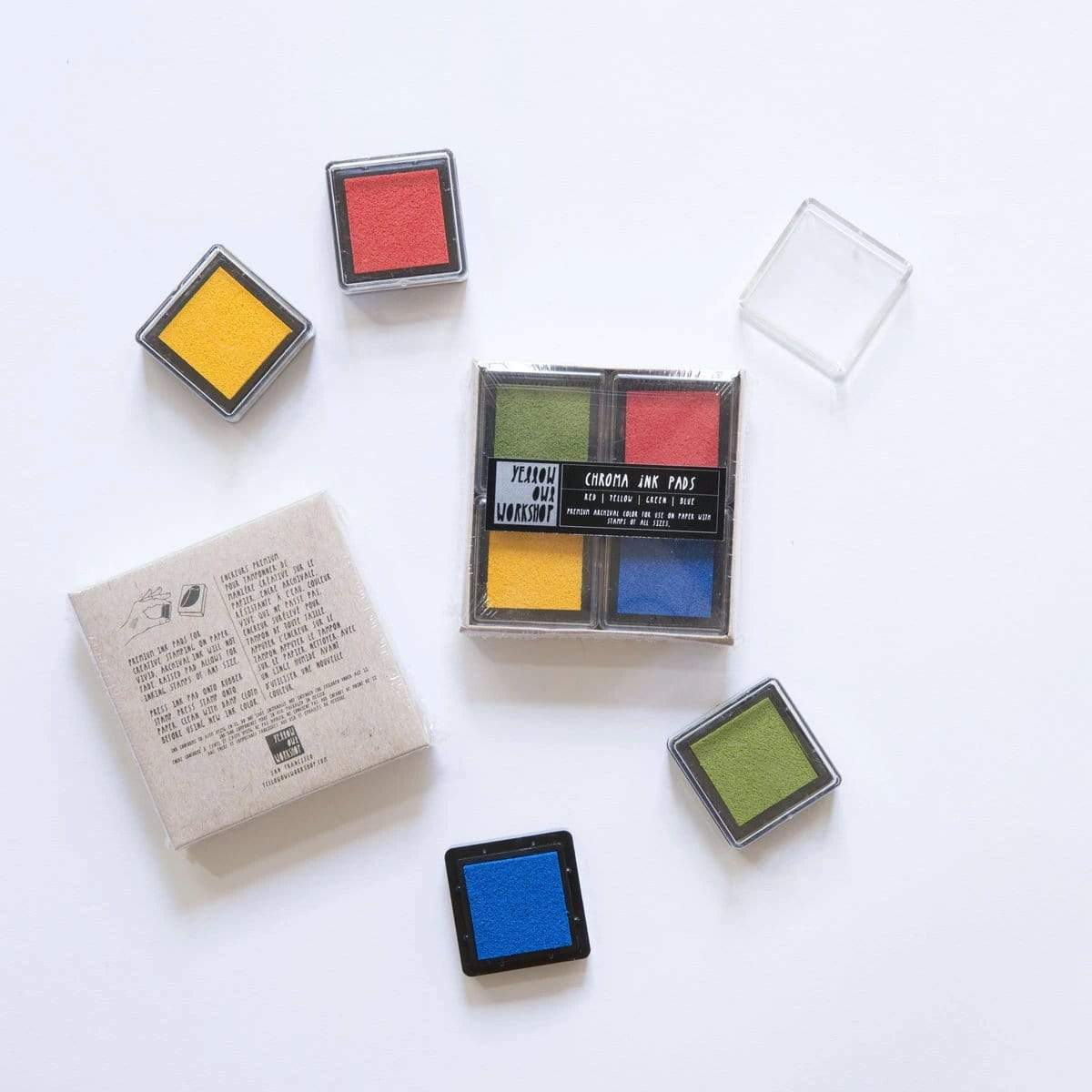 Chroma Ink Pads - Red/Yellow/Green/Blue