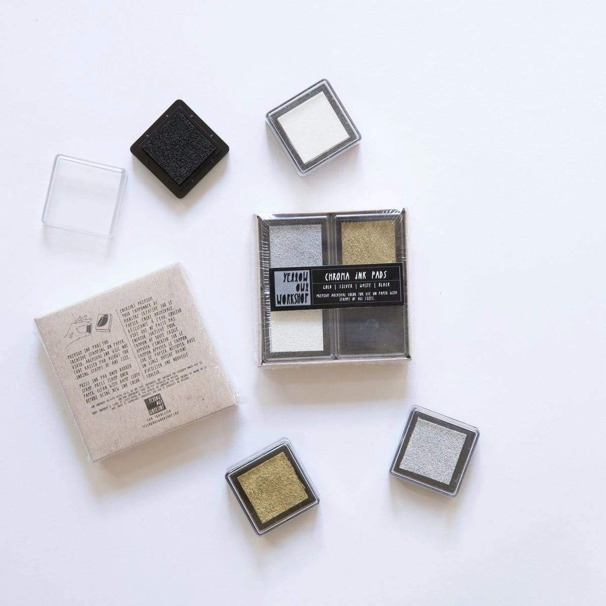 Chroma Ink Pads -Gold/Silver/Black/White