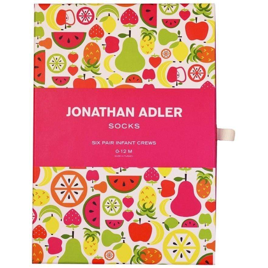 Jonathan Adler Fruit Baby Socks (0-12 Months) Gift Box - Set of Six