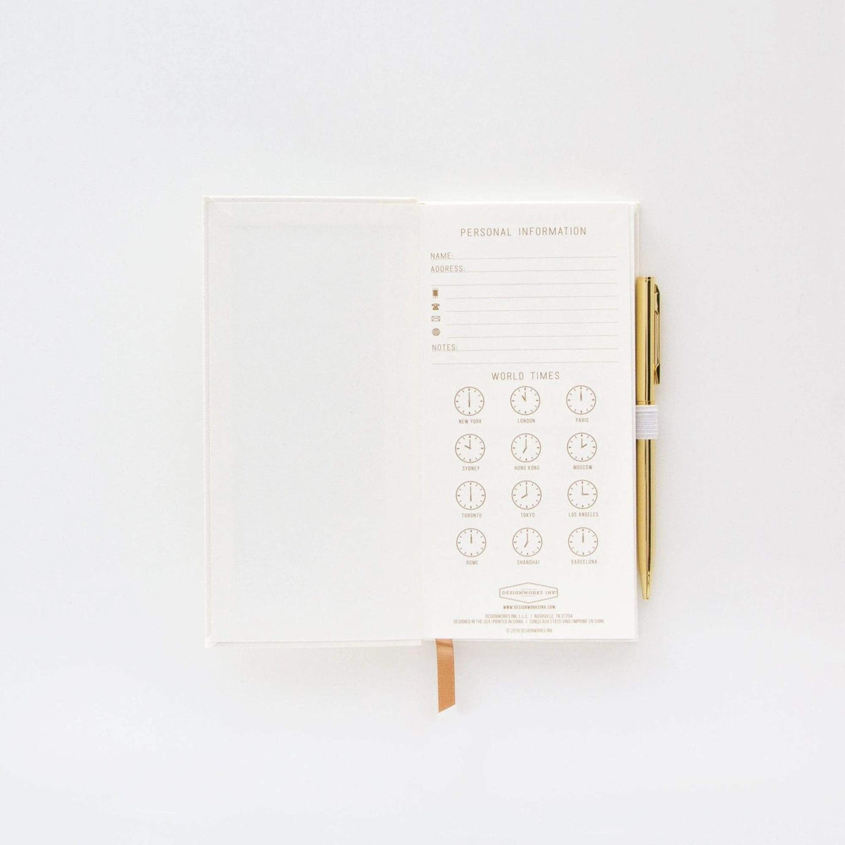 The Little Book of White Lies Classic Bookbound Journal with Pen
