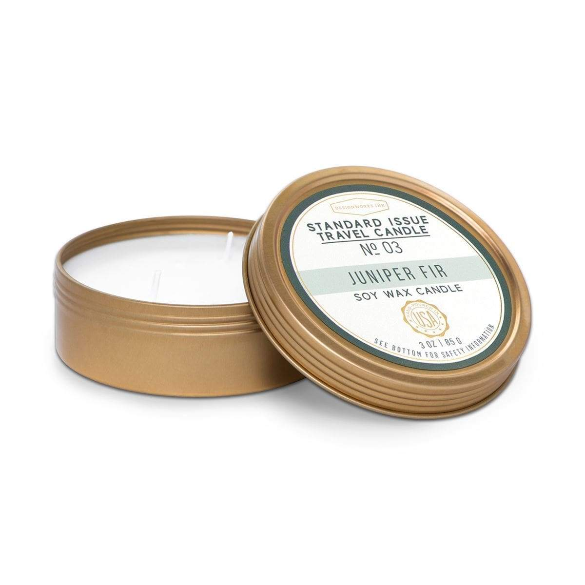 Standard Issue Travel Soy Wax Candle - Juniper Fir