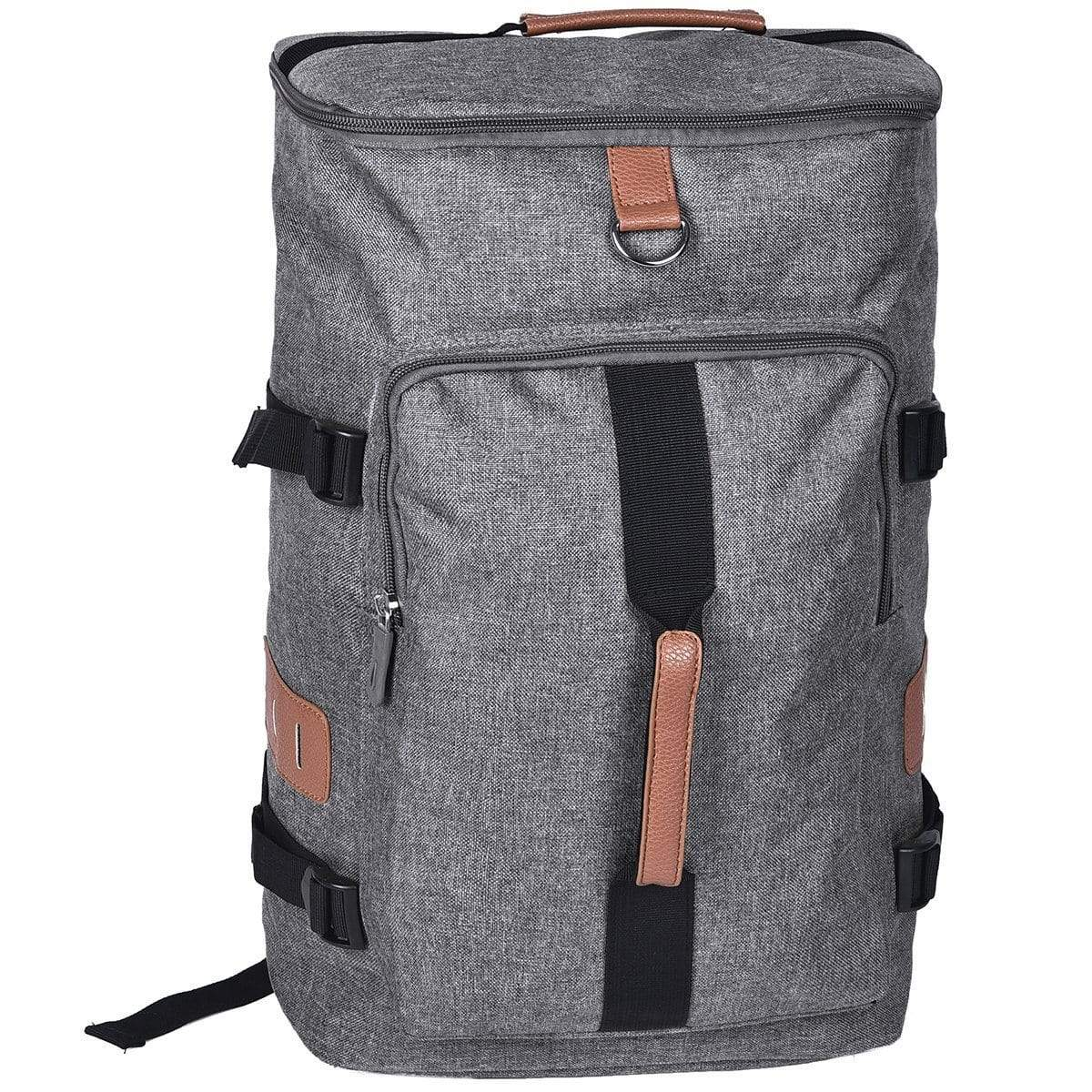 Border Convertible Backpack and Duffle Bag - Grey