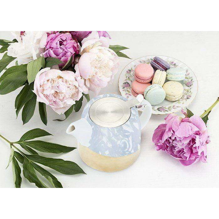 Pinky Up Tea Infusers Harper Blue Floral Ceramic Teapot & Infuser