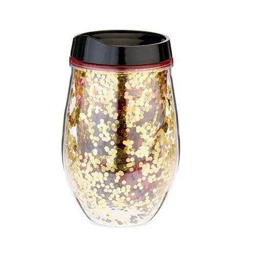 True Brands Water Bottles Cosmo Glitter Stemless Wine Tumbler