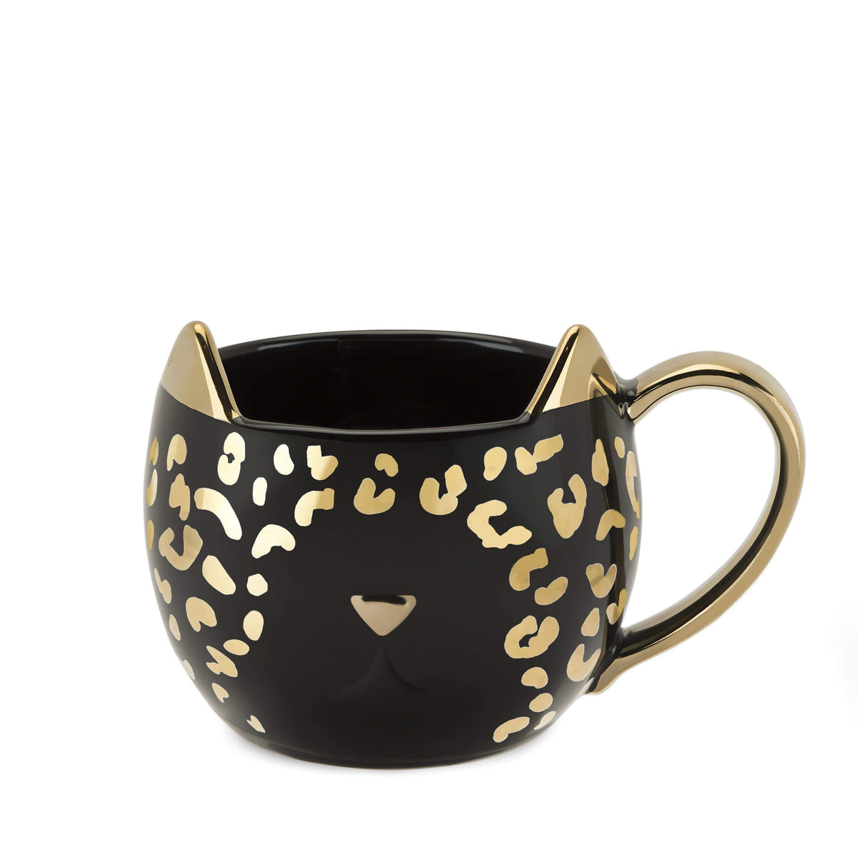 Chloe™ Black Leopard Cat Mug