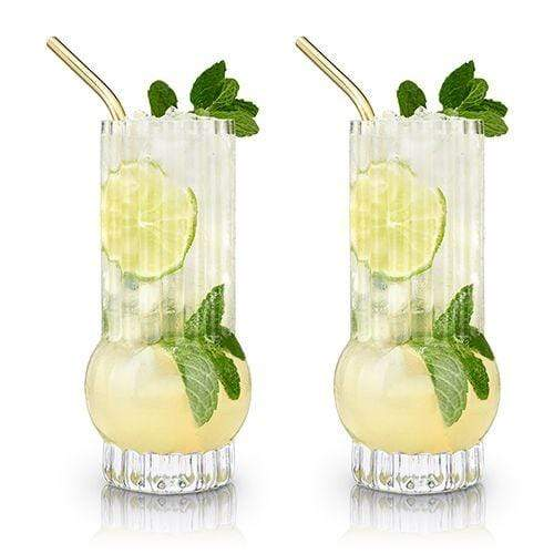 True Brands Kitchen Tools Deco Crystal Highball Glasses