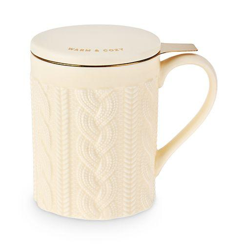 True Brands Tea Infusers Annette Knit Ceramic Tea Mug & Infuser