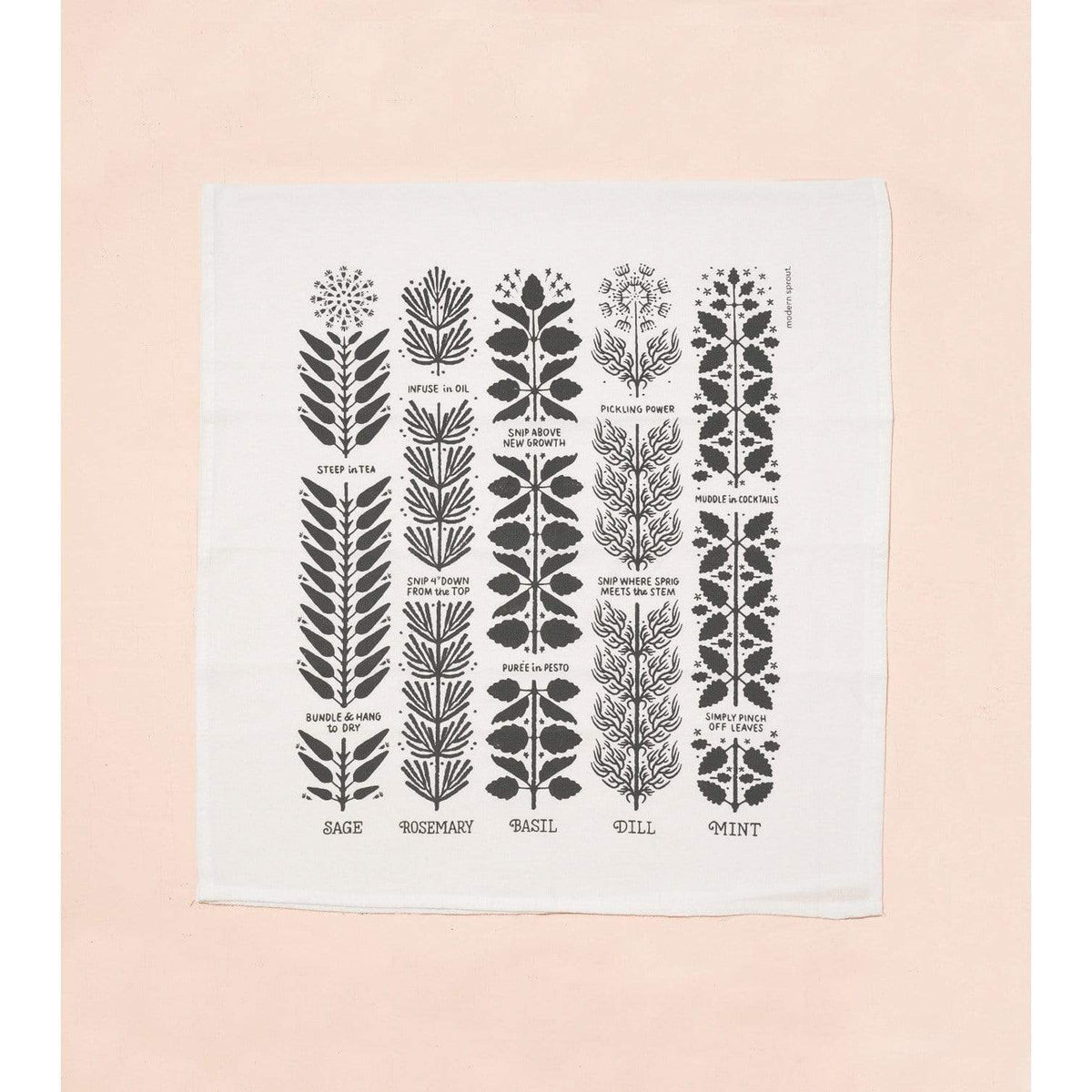 Herbal Harvest Tea Towel