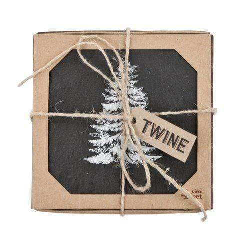 Christmas Printed Slate Coasters - Set of 4