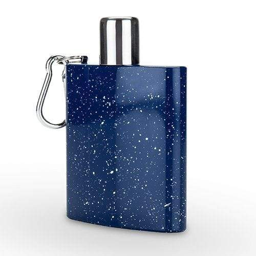 True Brands Flasks Blue Enamel Carabiner Flask