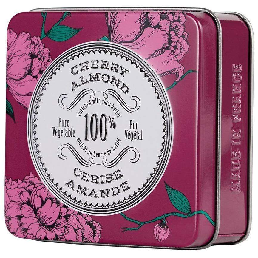La Chatelaine Cherry Almond Travel Soap In A Tin