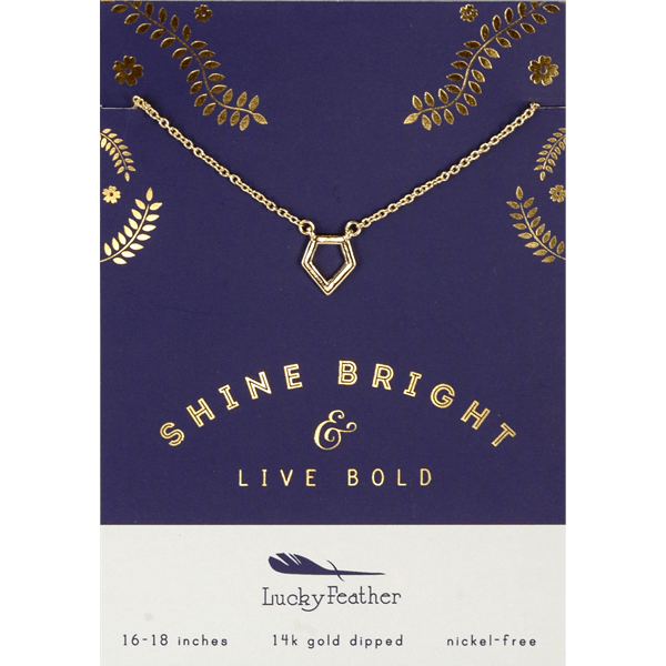 Shine Bright Diamond - 14K Gold Dipped Necklace