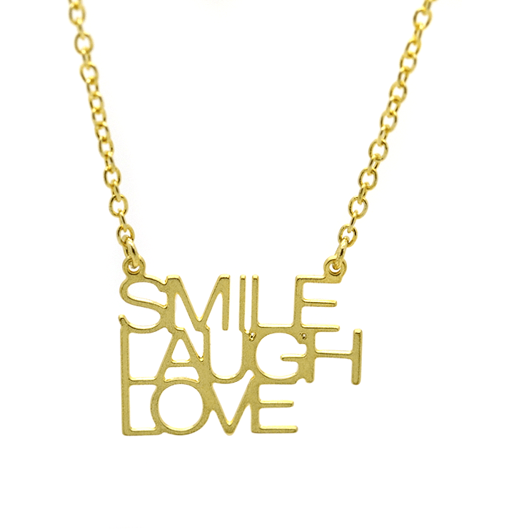 Strong and Sassy Gold Necklace - Smile Laugh Love