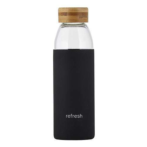 Glass Water Bottle with Bamboo Lid - Refresh