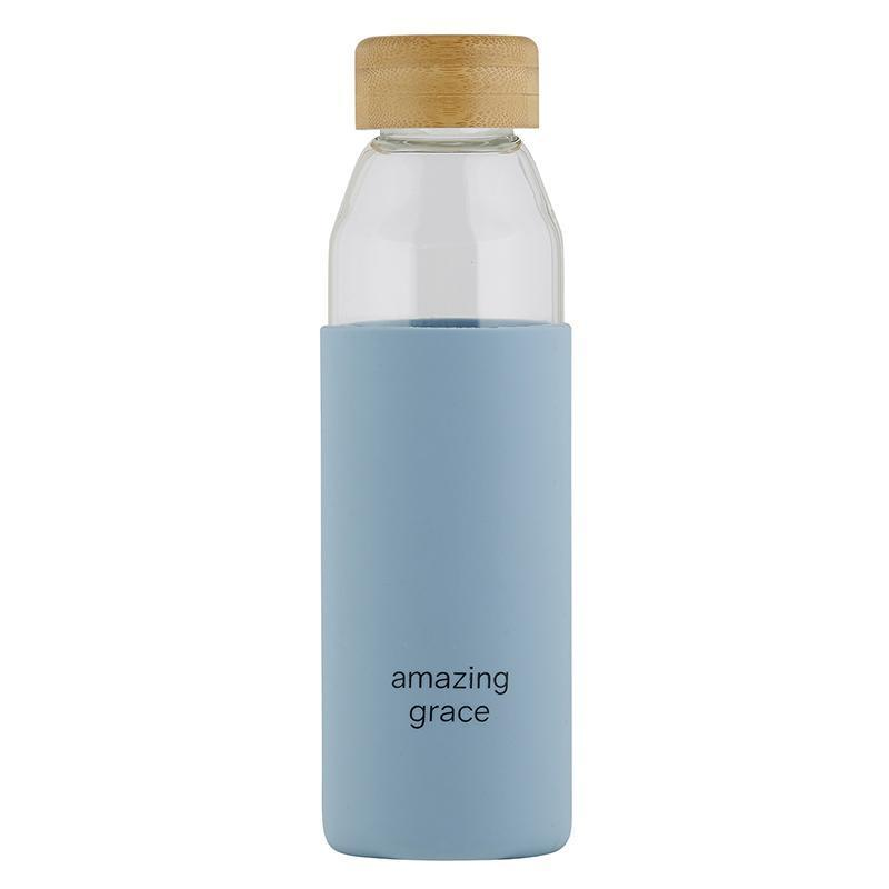Water Bottle with Bamboo Lid - Amazing Grace