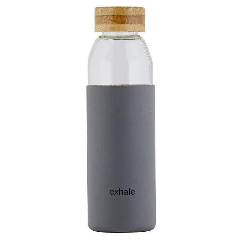 Glass Water Bottle with Bamboo Lid - Exhale