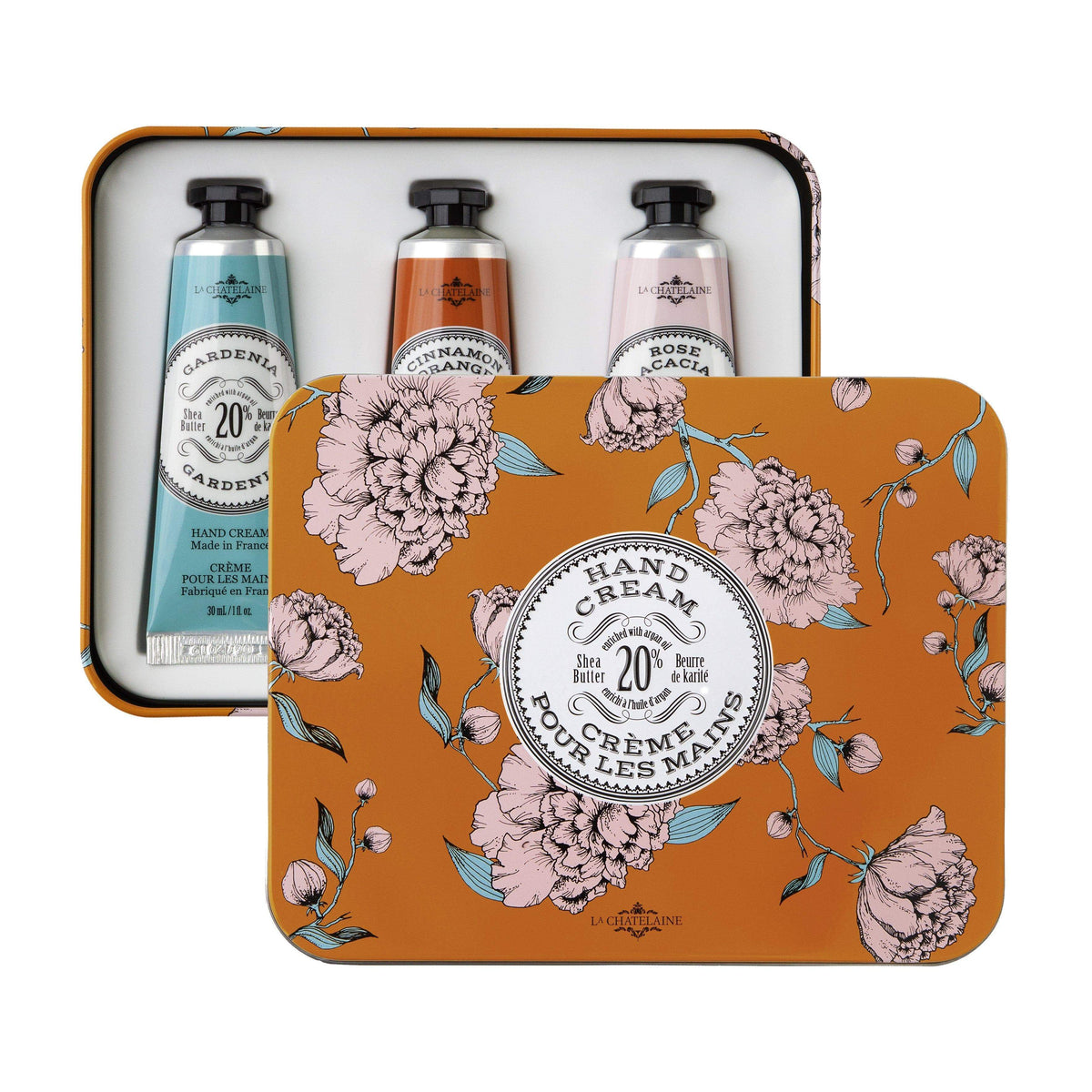 La Chatelaine Hand Cream Trio Gift Box - Orange