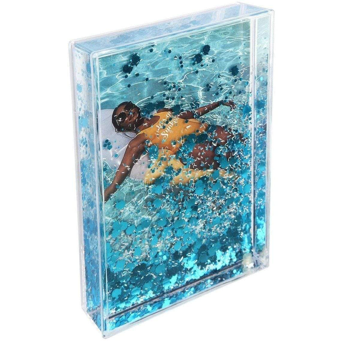 Rectangle Glitter Picture Frame - Shell