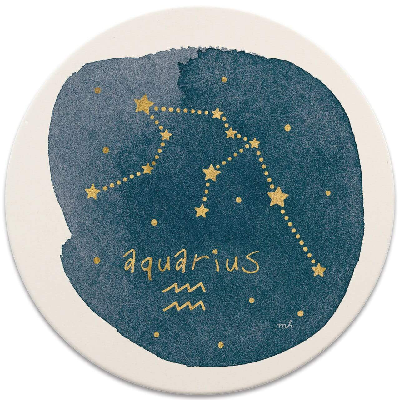 CoasterStone Coasters Aquarius Sign Coaster - Set of 4