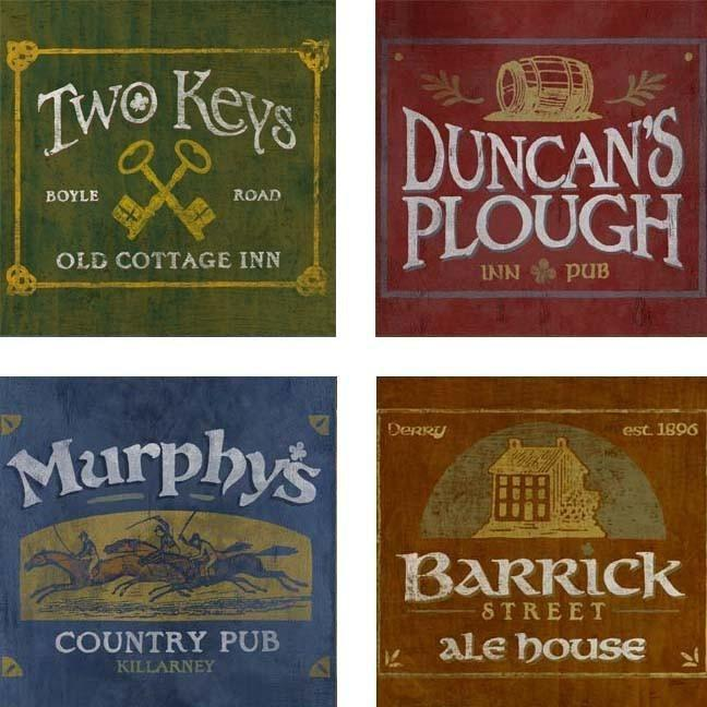 Irish Pubs Coasters - Set Of 4