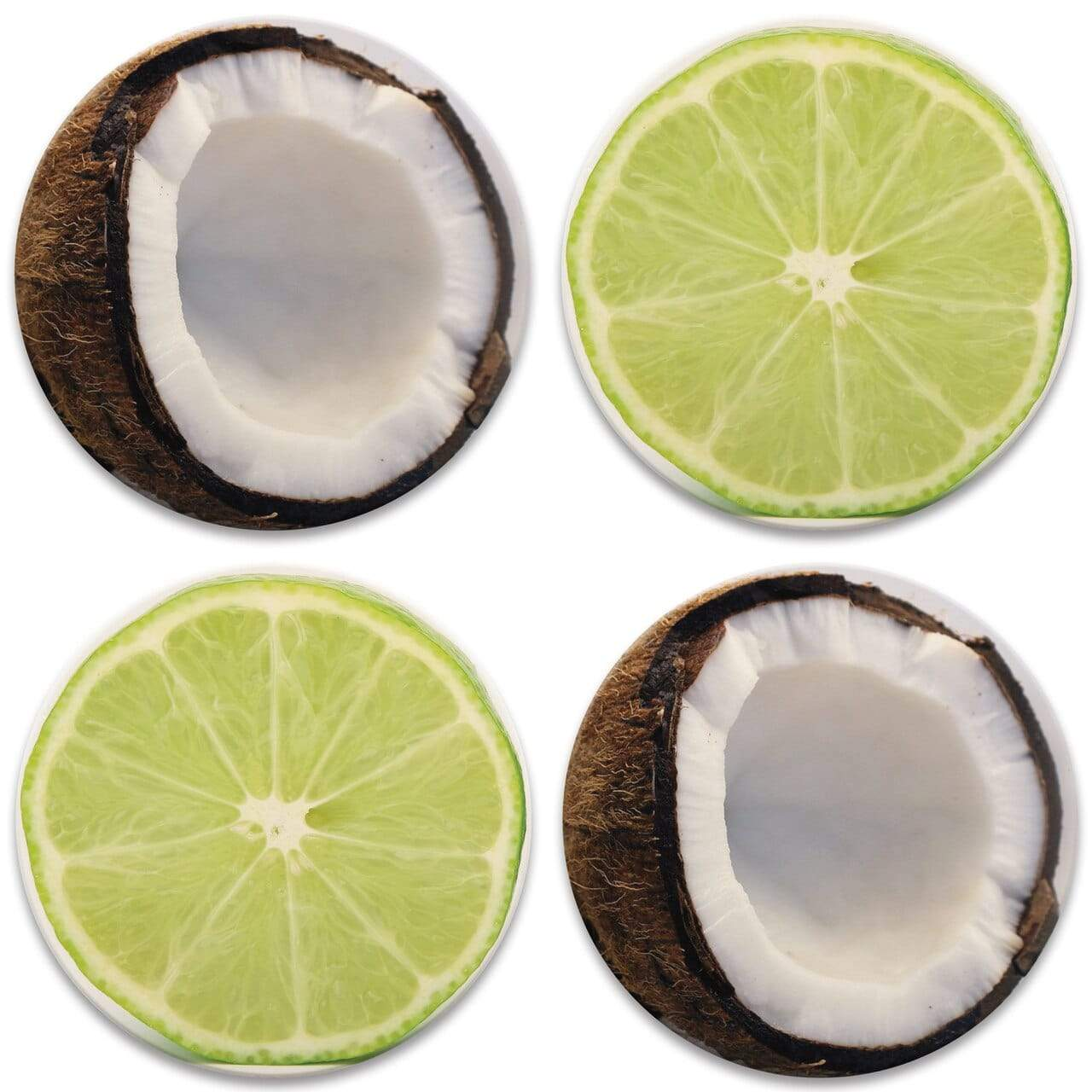 CoasterStone Coasters Lime & Coconut Coaster - Set of 4