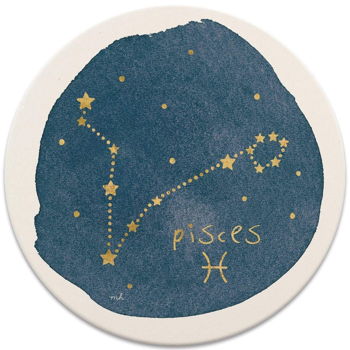 CoasterStone Coasters Pisces Sign Coaster - Set of 4