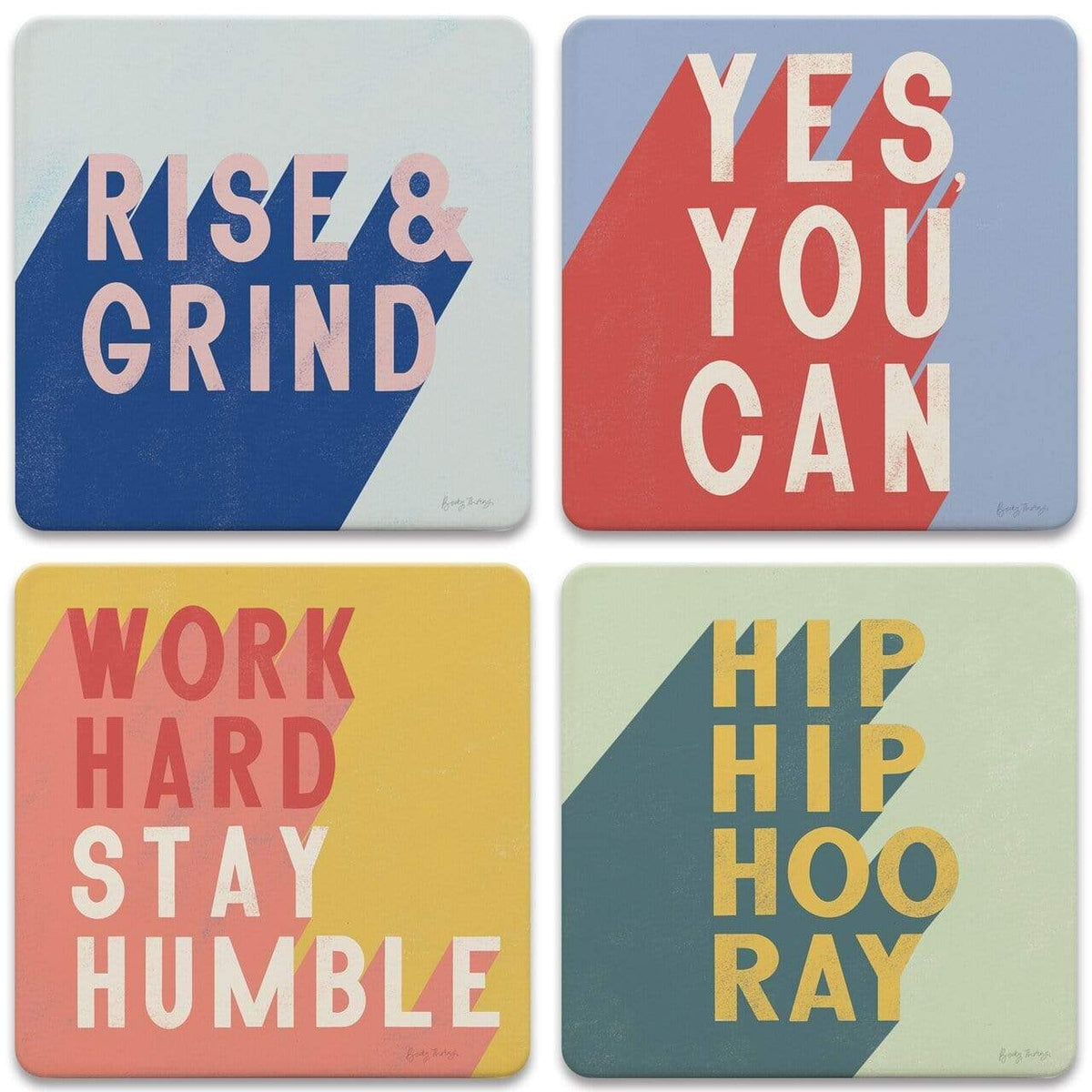 CoasterStone Coasters Positivity Coaster - Set of 4