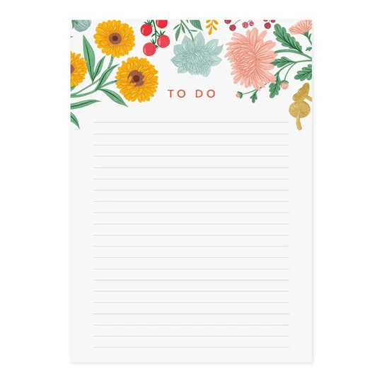 Karma Kiss A5 Autumn Garden Notepad - Set of 3