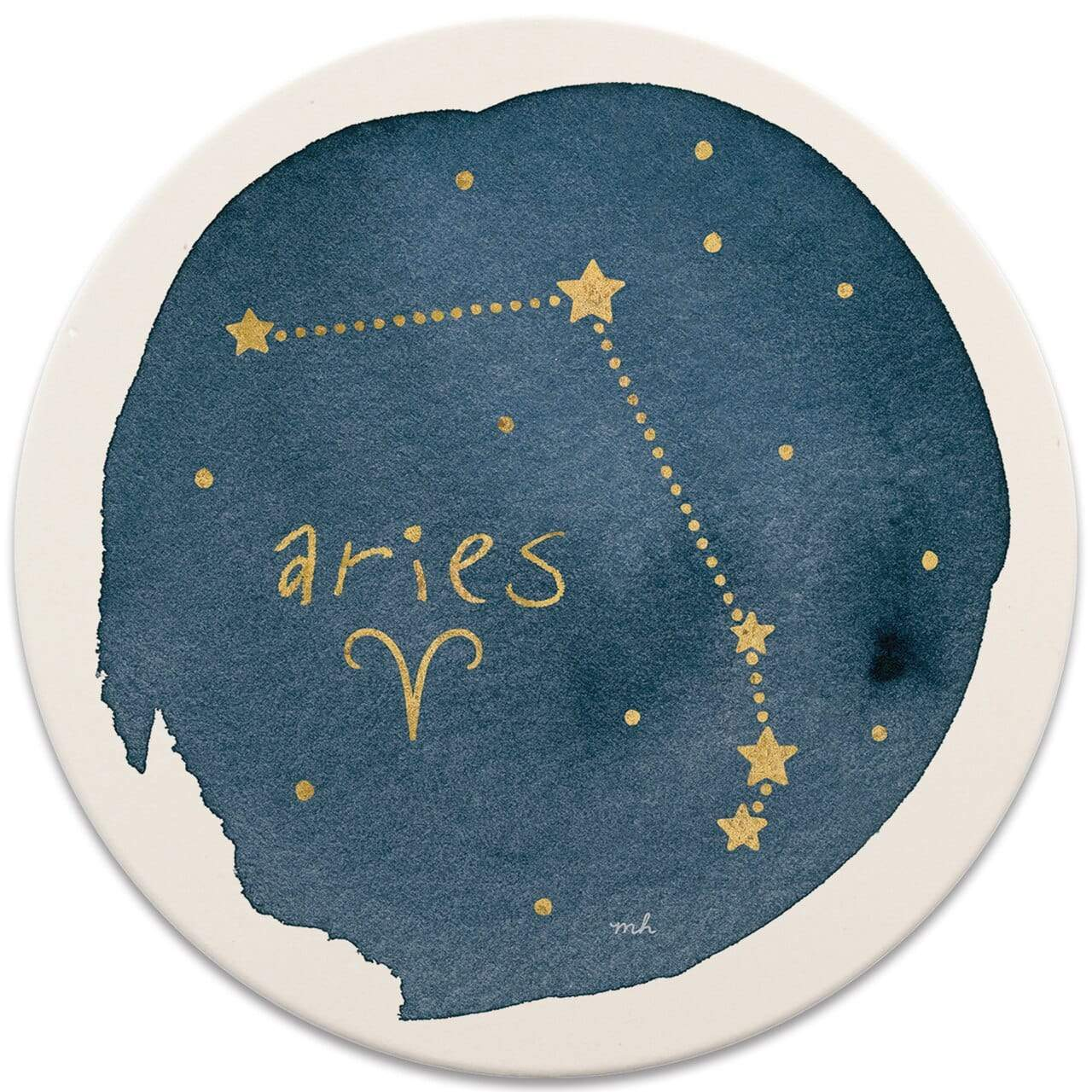 Karma Kiss Aries Sign Coaster - Set of 4
