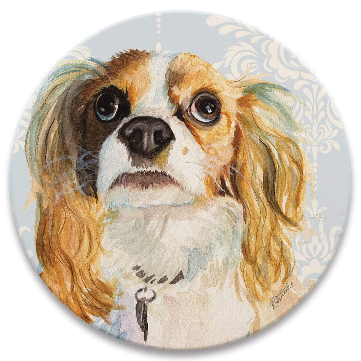 Karma Kiss FurKids Dogs King Charles Spaniel Coaster - Set of 4
