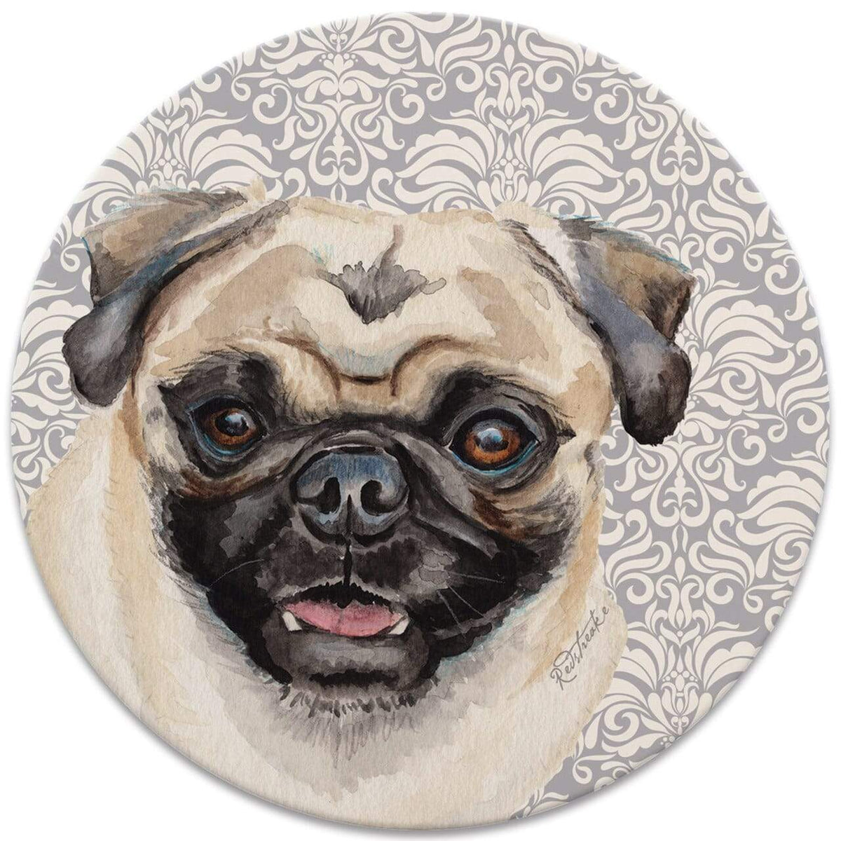 Karma Kiss FurKids Dogs Pug Coaster - Set of 4