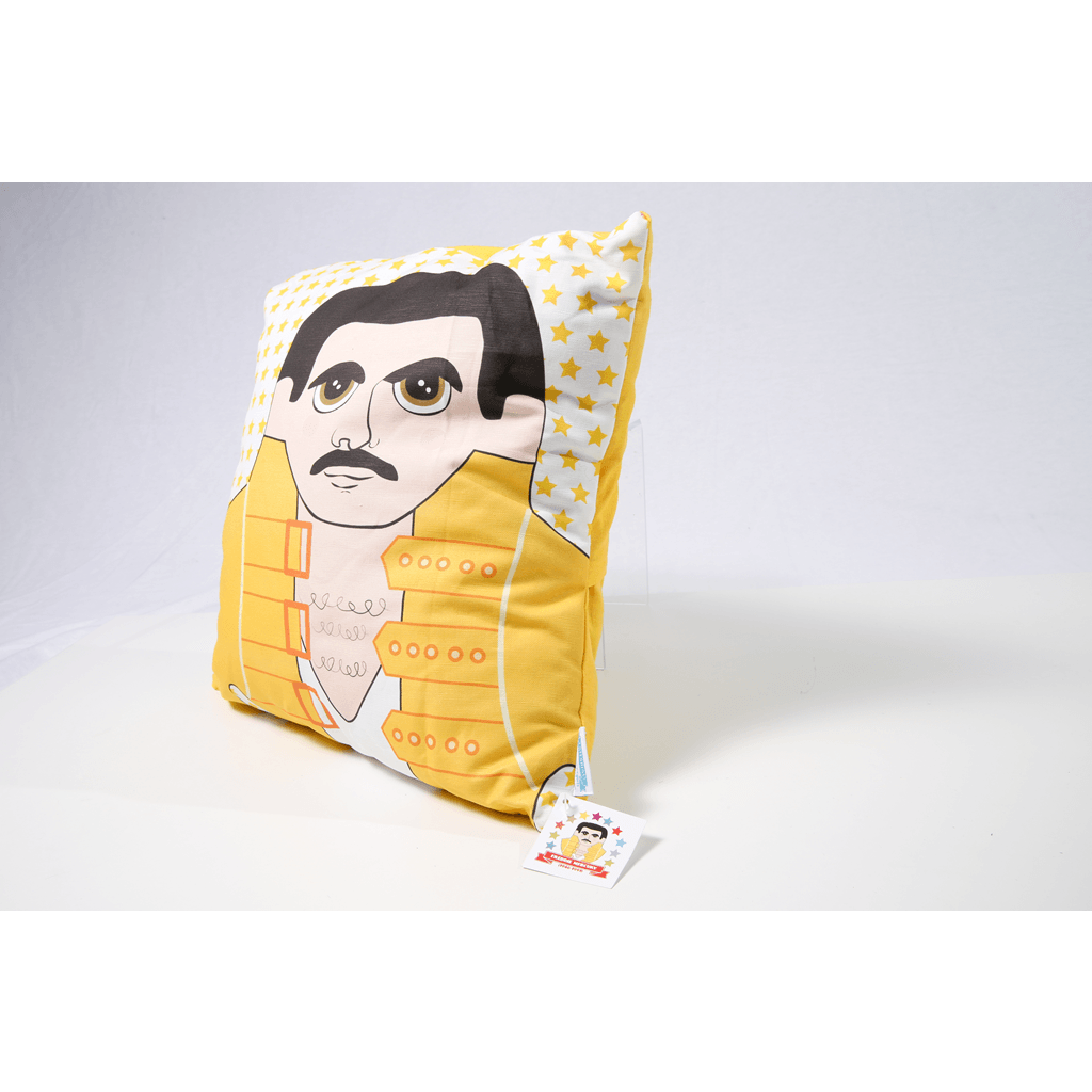 Late Greats Hand Made Pillow 16x16 - Freddie Mercury