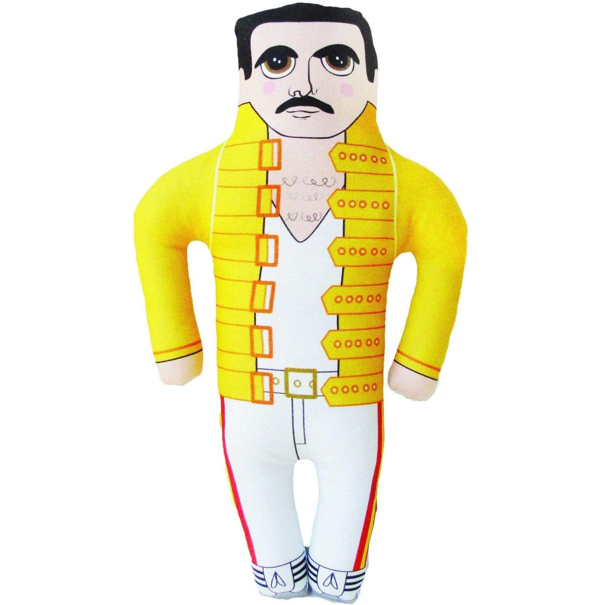 Late Greats Hand Made Pillow Doll - Freddie Mercury
