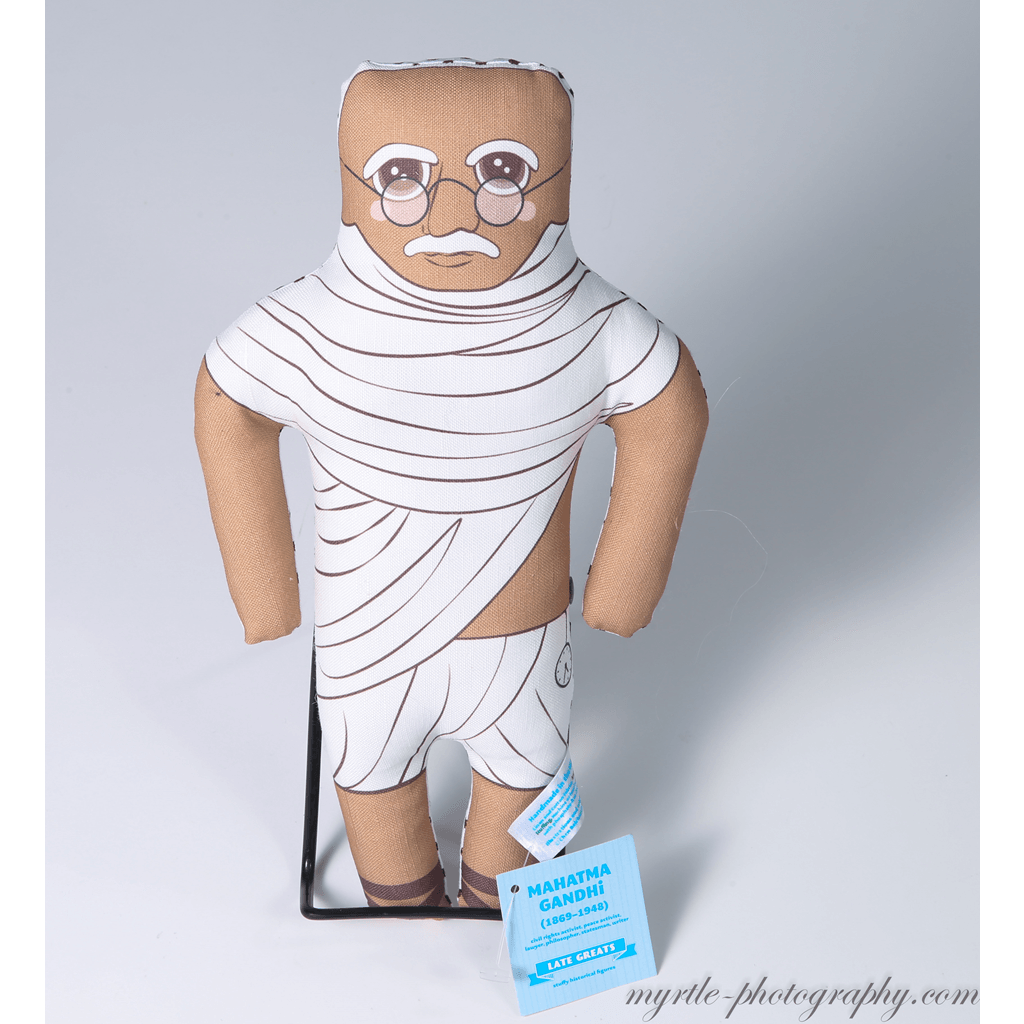 Late Greats Hand Made Pillow Doll - Gandhi