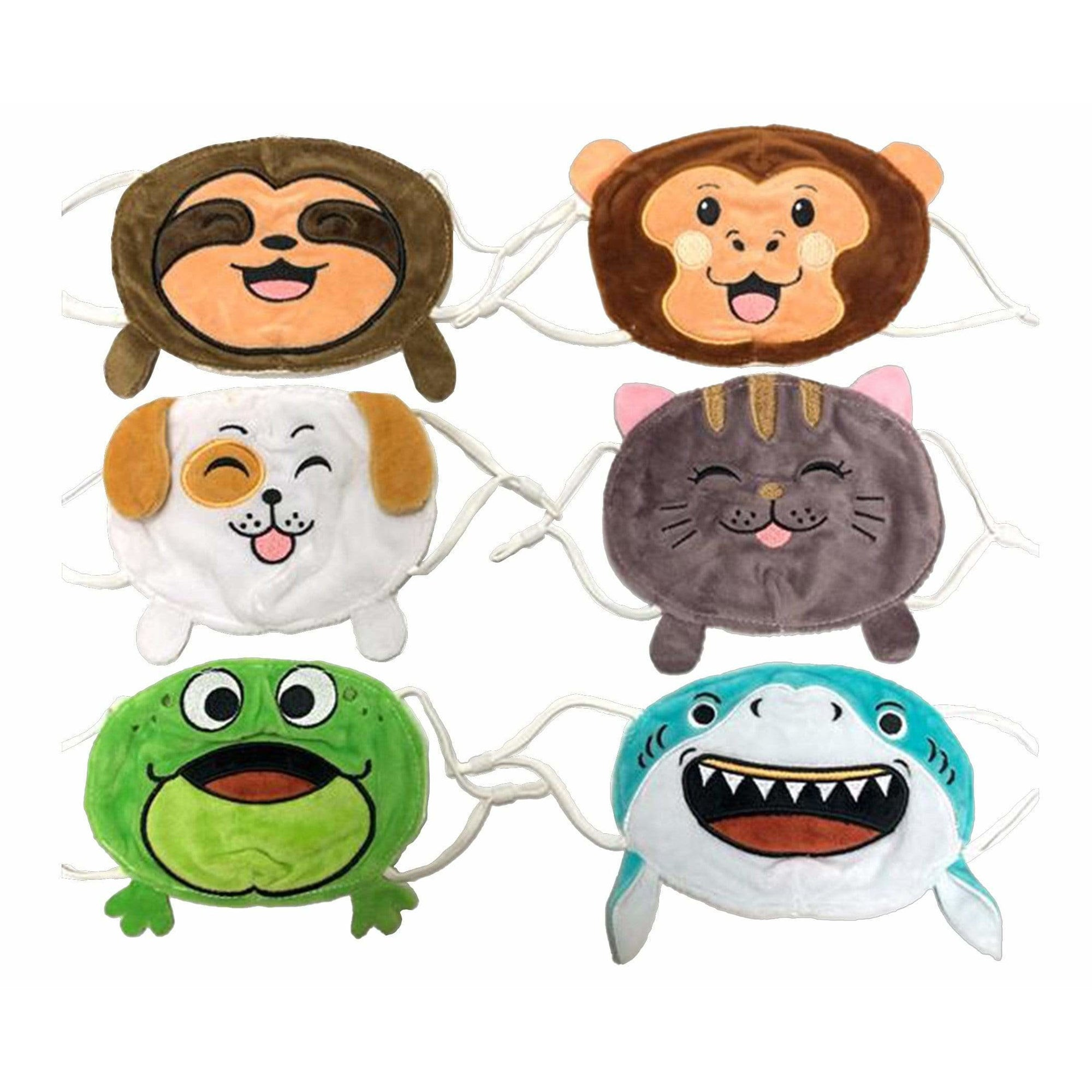 Streamline Personal Care Plush Animal Kid Face Masks with Antibacterial Silver Ion Lining
