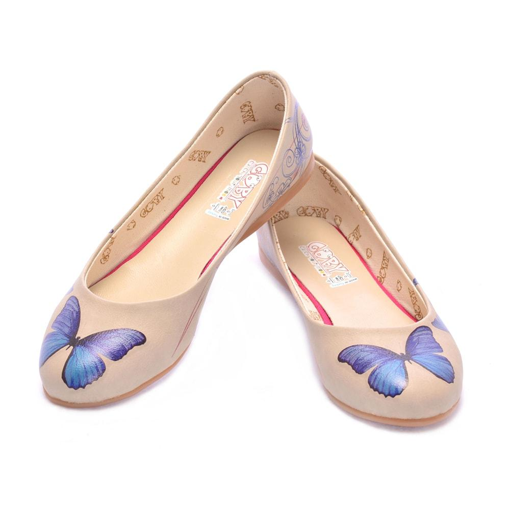 GOBY Blue Butterfly Ballerinas Shoes 1000