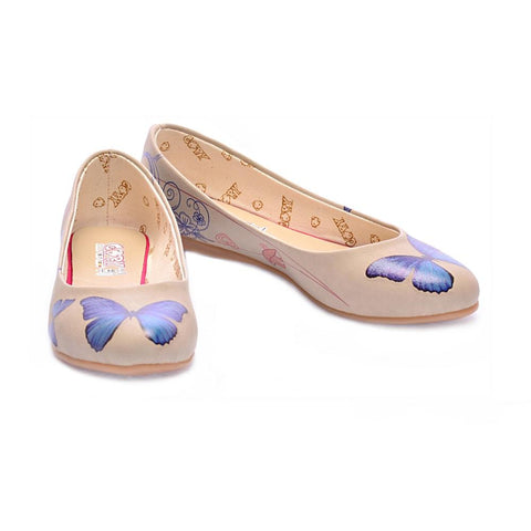 Blue Butterfly Ballerinas Shoes 1000, Goby, GOBY Ballerinas Shoes