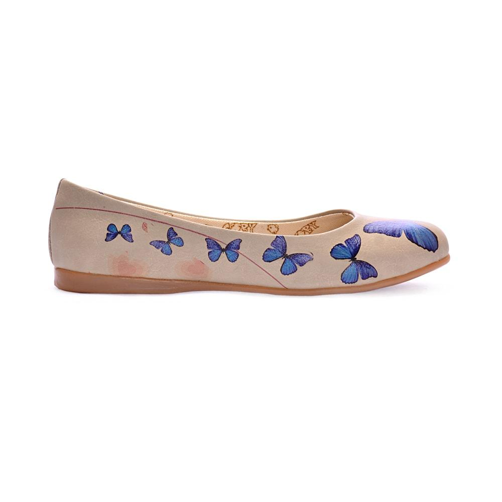 Blue Butterfly Ballerinas Shoes 1000