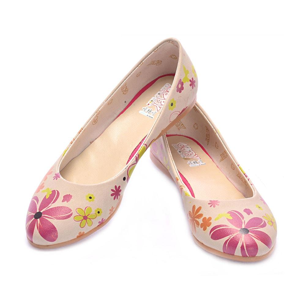 GOBY Flowers Ballerinas Shoes 1003