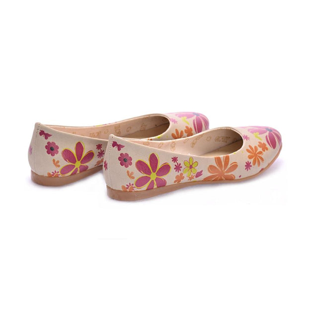 Flowers Ballerinas Shoes 1003 - Goby GOBY Ballerinas Shoes