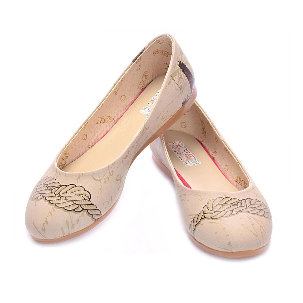 GOBY Sailor Rope Ballerinas Shoes 1018