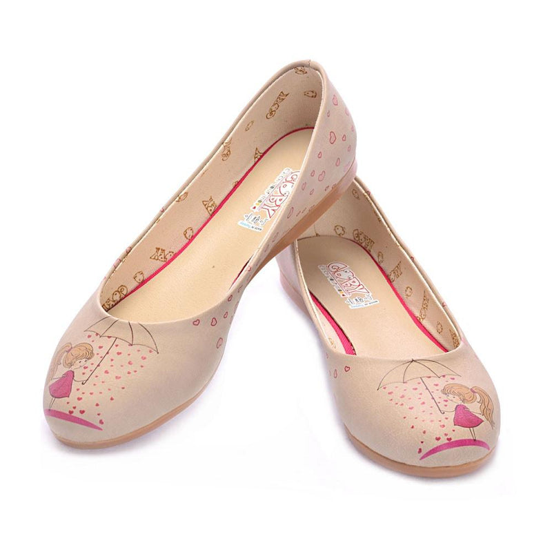 Heart Raining Ballerinas Shoes 1023