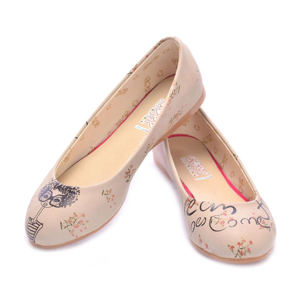 GOBY Curly Girl Ballerinas Shoes 1025