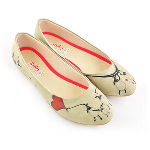 GOBY Sheep Love Ballerinas Shoes 1029