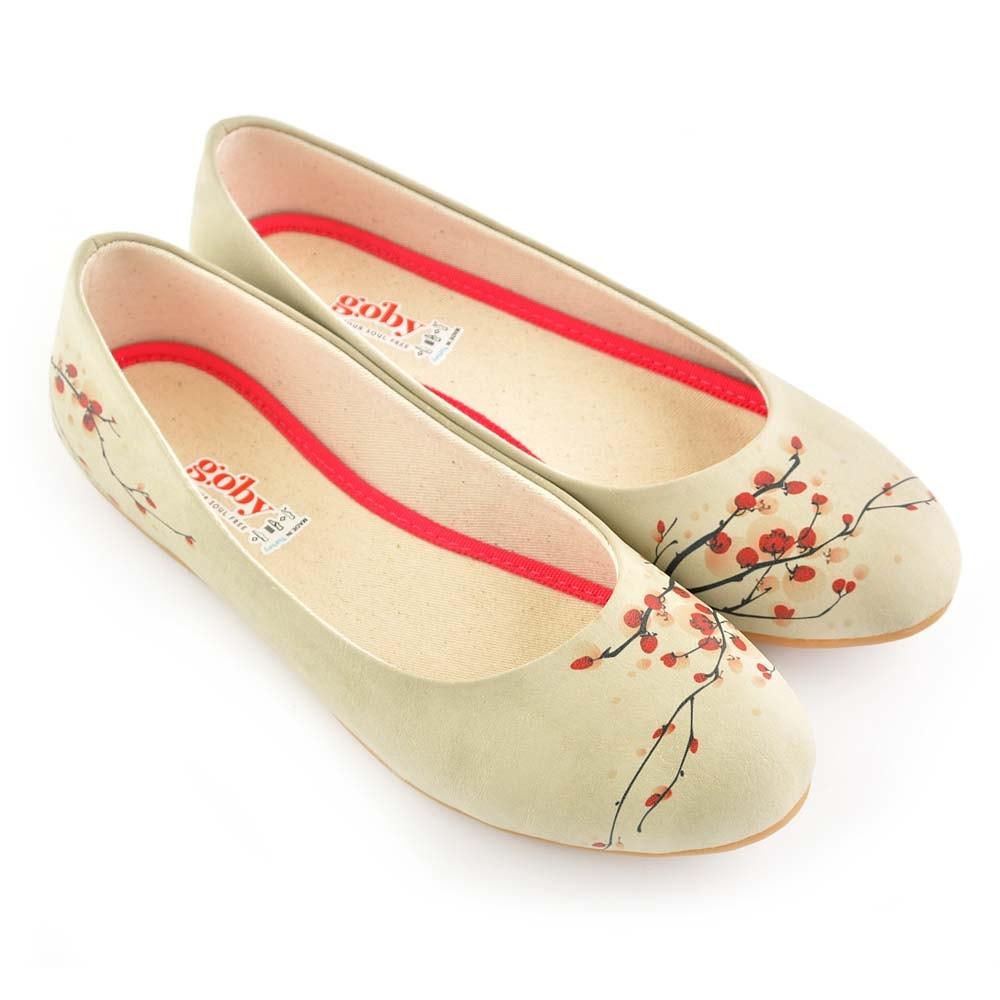 Cherry Blossom Ballerinas Shoes 1031, Goby, GOBY Ballerinas Shoes