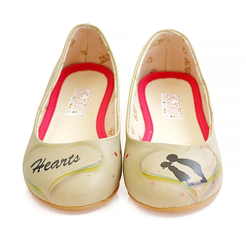 Heart Ballerinas Shoes 1039 (1405793534048)