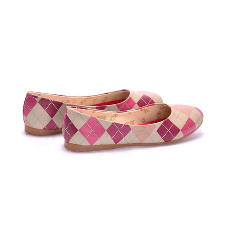 GOBY Plaid Ballerinas Shoes 1050