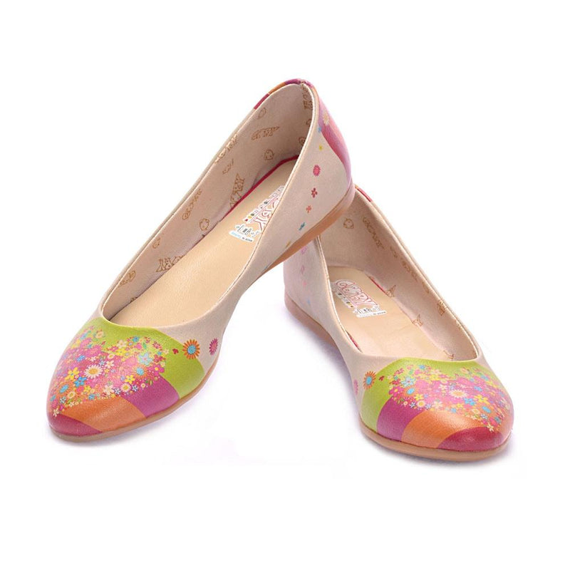 Flowering Heart Ballerinas Shoes 1054 (506262323232)