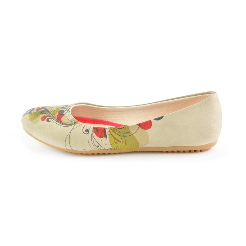 Spiral Flower Ballerinas Shoes 1056 (506262519840)